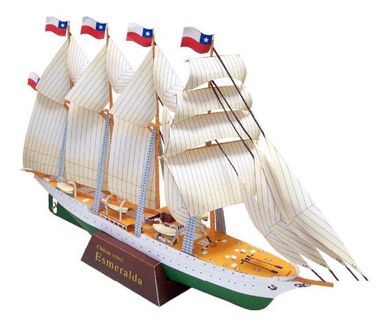 Barco Vela Chileno Esmeralda Navio Pesca Mar Oceano
