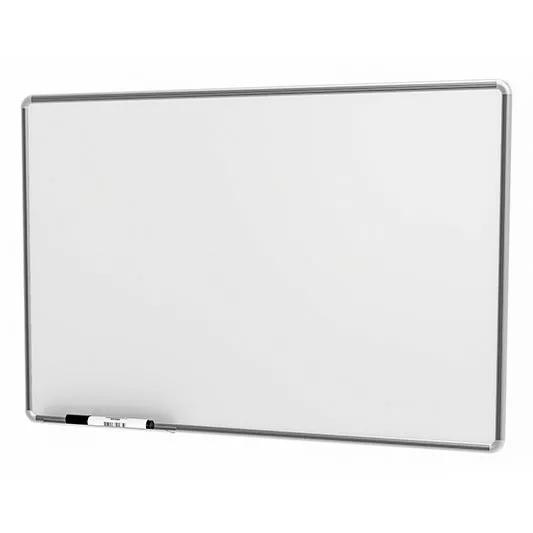 Lousa Quadro Branco Moldura De Aluminio 100x70 Cm + Brinde