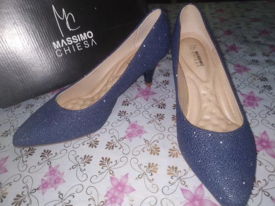 Zapatos Mujer Stilettos - Azul Marino | Massimo Chiesa