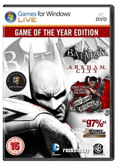 Batman Arkham City Goty Pc Frete Gratis Envio Imediato!