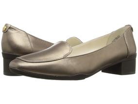 Zapato Femenino Cuero Anne Klein Daneen Bronze