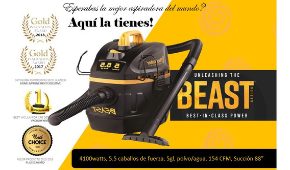 Vacmaster Aspira Industrial, 4100 W. Para Lavadoras De Autos