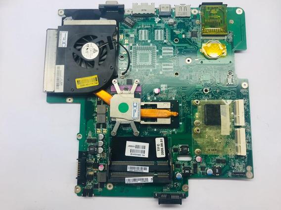 Placa Mãe Notebook LG R580 Pentium Com Cooler E Dissipador