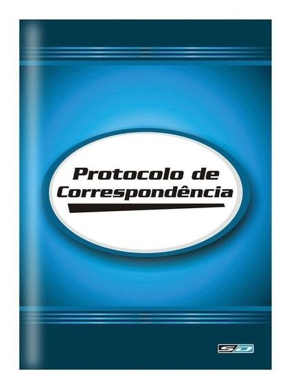 Livro Reg Protocolo De Correspondência 104 Folhas Pct C/ 02