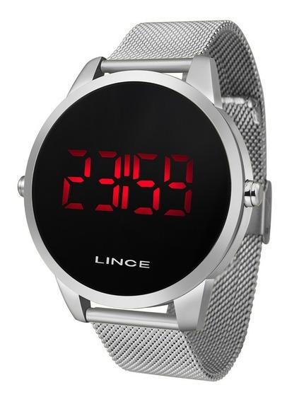 Relógio Lince Digital Prata Mdm4586l - Feminino- Masculino- Uni Sexy