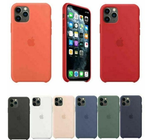 Forro Silicone Case Para iPhone 11+vidrio Templado Ceramic
