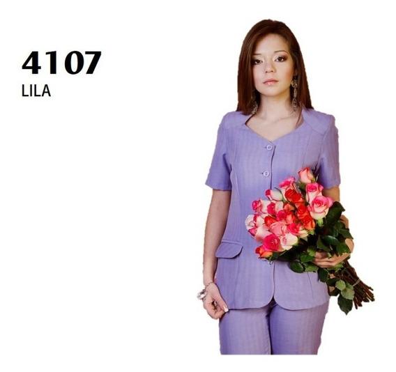 Conjunto Saco Pantalón Dama 4107 Lila Uniformes