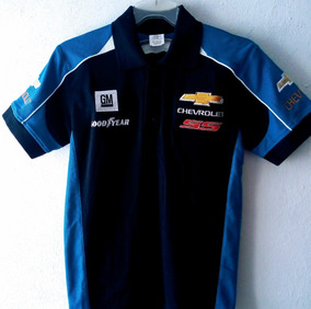 Playera Polo Chevrolet Gm Good Year Racing Caballero Azul