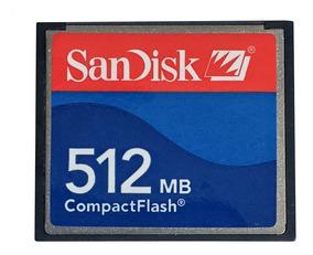 Cartão De Memória Compact Flash (cf) Sandisk 512mb