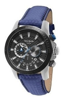 Relógio Technos Cronógrafo Pulseira Azul + Frete