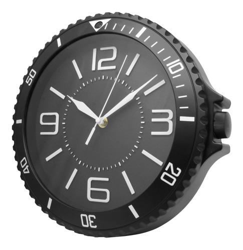 Imagen 1 de 7 de Reloj De Pared  Moderno Analogo Negro Gigante 27.5 Cm