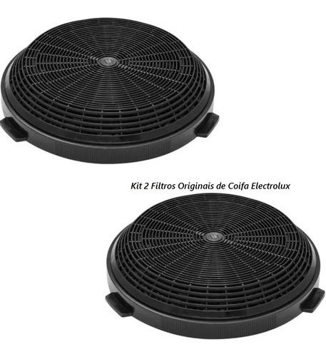Imagem 1 de 7 de Kit 2x Filtros Carvão Coifa Electrolux 90ct 90cvs 60cts 60cv