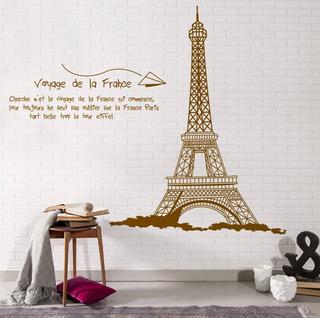 Vinil Pared Decorativo Paris Cafe Torre Eiffel Grand 180x140