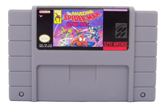 The Amazing Spiderman Lethal Foes Super Nintendo Snes Novo