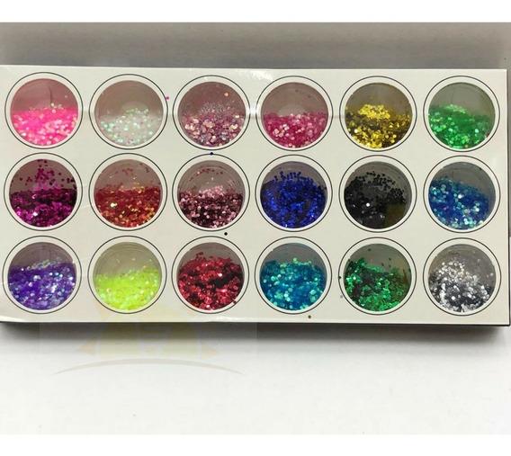 Glitter Flocado Com 18 Unidades Lançamento