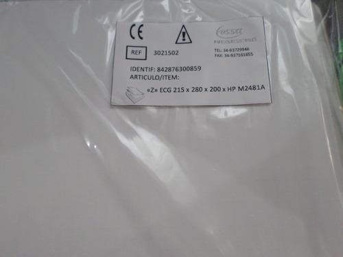 Papel Para Ecg Resma Hp M2481a Resma X 200 Hojas 25trum