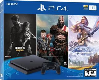 Playstation 4 Ps4 Slim 1tb 3 Juegos Nuevo Tienda Gamers *_*