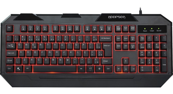 Teclado Gamer Hoopson Usb Tpc-045 Com Led 7 Cores