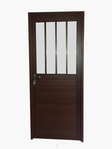 Imagen 1 de 1 de Puerta Aluminio Seria 30 Im. Madera 0.80x2.05mt.