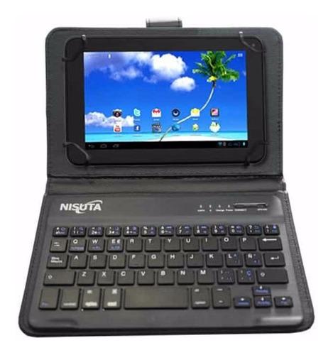 Funda Teclado Bluetooth Universal Para Tablet 7 8 Pulgadas