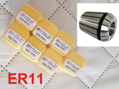 Er11 Collet Set, 10pcs . Cnc Pinza Collet Para Husillo