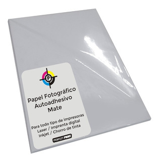Papel Autoadhesivo A4 Obra Mate 100 Hojas 80 Gs Inkjet Laser