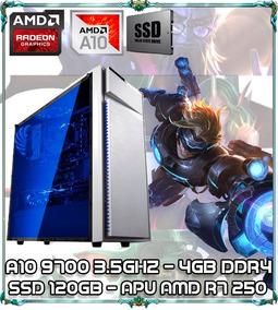 Cpu Pc Gamer A10 9700 3.5ghz 4gb Ddr4 Apu 250 Ssd 120gb 015w