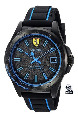 Reloj Ferrari Pilota 0830423 En Stock Original Con Garantía