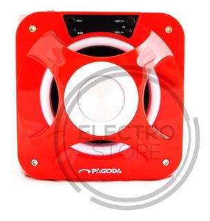 Parlante Portatil Portable Recargable Usb Sd Bluetooth Radio Mp3 Hd Gran Sonido Luces Led Cuotas + Envio