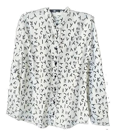 Camisas Hombre Cuello Mao Diseño Manga Larga * Fashion *