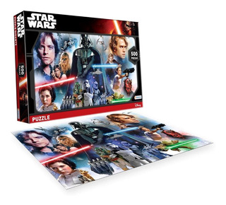 Puzzle 500 Piezas Star Wars Leia Luke Han Solo Rompecabezas