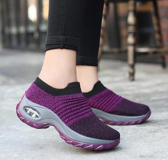 Mulheres Tênis 2019 Nova Malha Respirável Sapatos De Mulhe