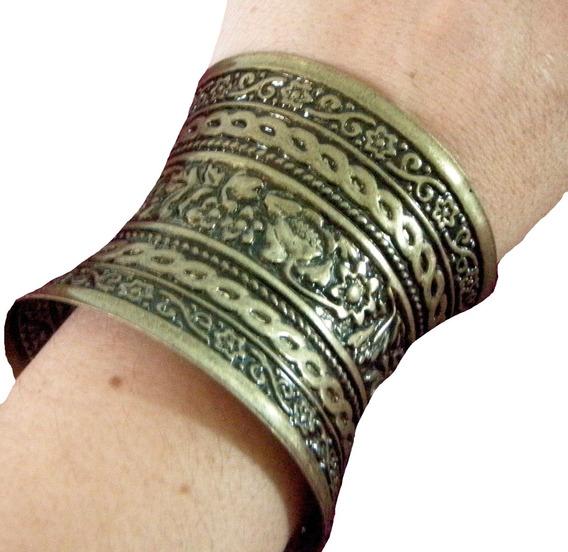 Brazalete Onda Egipcio De Metal - Pulsera