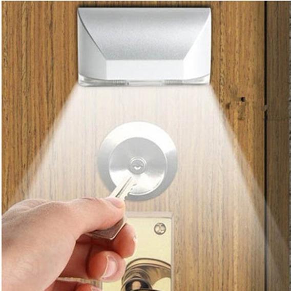 Lanterna Porta Fechadura Escada Sensor Presença 4 Leds Pilha