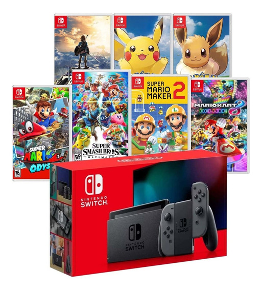 Console Nintendo Switch Modelo Novo 2019 + 1 Jogo A Escolha