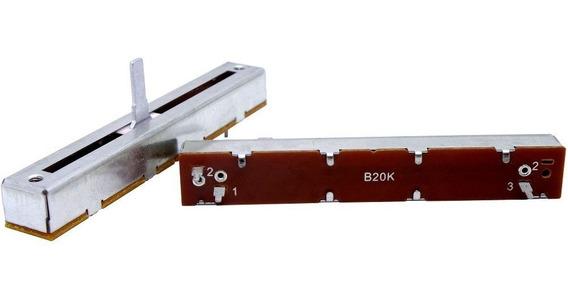 Potenciômetro Deslizante Mono 20kb B20k B203 Percurso 60mm