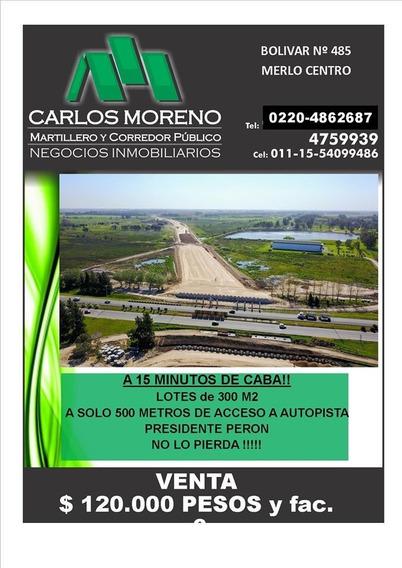 Lotes Ubicados En Extensión Camino Del Buen Ayre !!