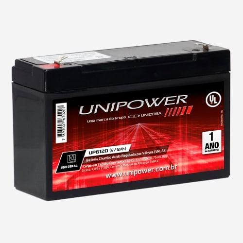 Bateria Para Moto Eletrica 6v 12ah Unipower