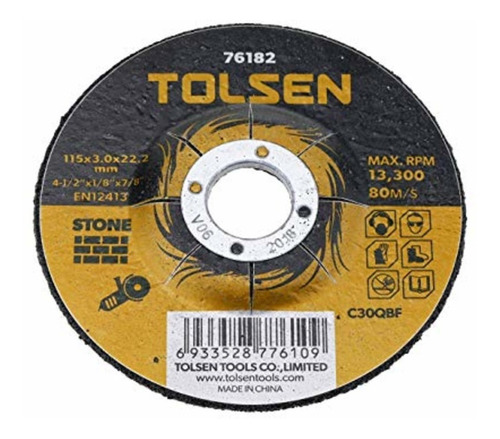 Disco Corte P/ Piedra  4 1/2'' Tolsen 76182 X 10 Unidades