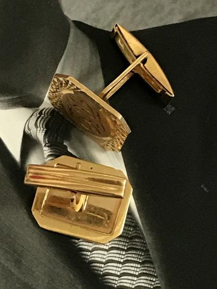 Abotoaduras Ouro Amarelo 18k-750, Peso: 9,4 Gramas