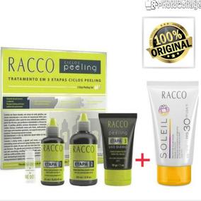 Kit Ciclos Peeling Racco 3 Etapas+1 Protetor Facial Fps 30