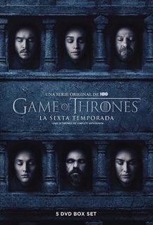 Dvd - Game Of Thrones - Juego De Tronos - Temporada 6