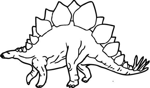Vinilo Infantil Animal Stegasaurus Con Nombre 1m.x60cm