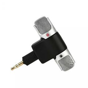 Microfone Mini Stéreo P2 Pc, Tablet Pc, Gravador, Md, Câmera