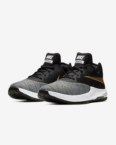 Zapatillas Nike Air Infuriate 3 Low Grises - Talle 40.