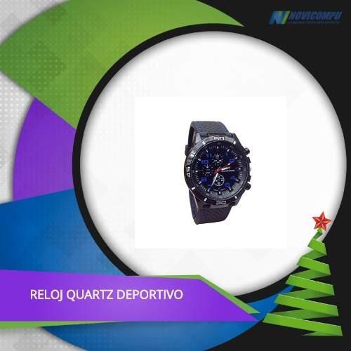 Reloj Quartz Deportivo Con Estilo Militar Y Estuche