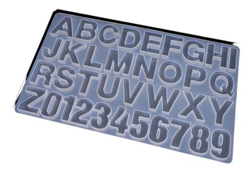Imagen 1 de 3 de Molde Silicona Resina Letras Y Numeros Grandes