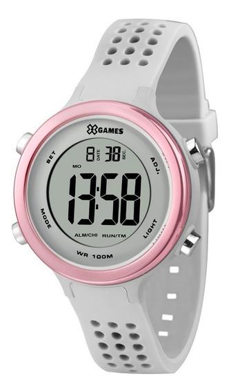 Relógio X-games Feminino Digital Xfppd068 Bxix Cinza Rosa