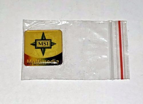 Sticker Logo Msi Multimedia De Coleccion!!