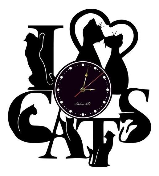 Reloj De Pared Gatos